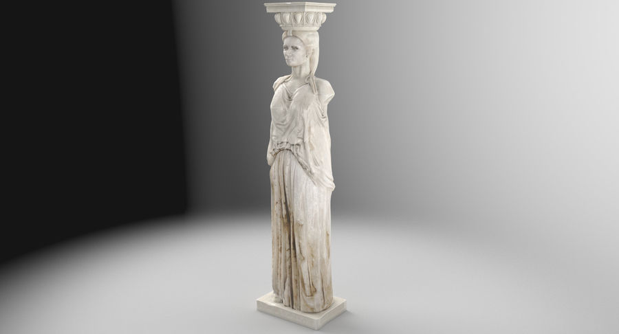 Caryatid royalty-free 3d model - Preview no. 3