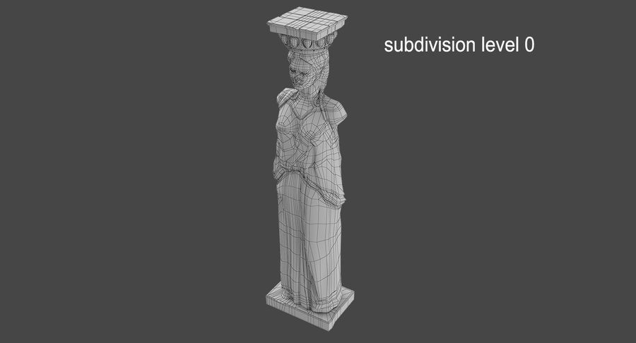 Caryatid royalty-free 3d model - Preview no. 16