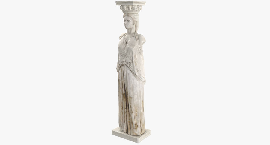 Caryatid royalty-free 3d model - Preview no. 2