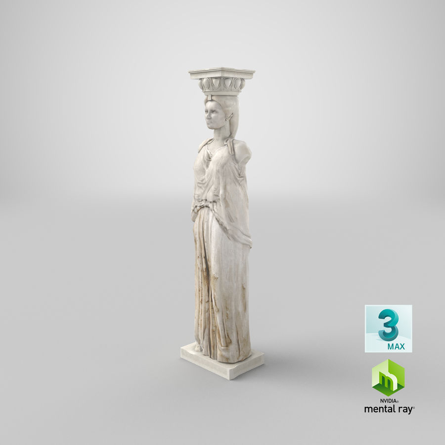 Caryatid royalty-free 3d model - Preview no. 28