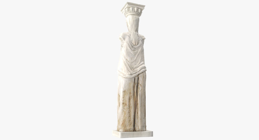 Caryatid royalty-free 3d model - Preview no. 9