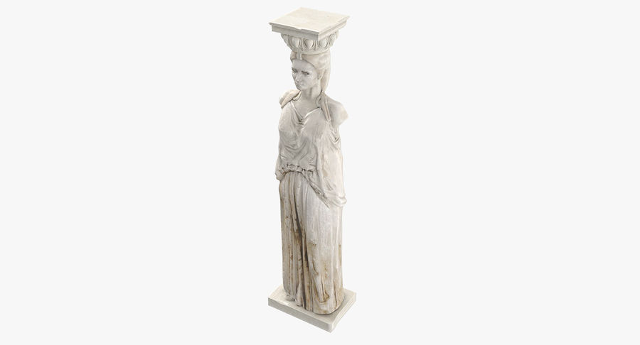 Caryatid royalty-free 3d model - Preview no. 15
