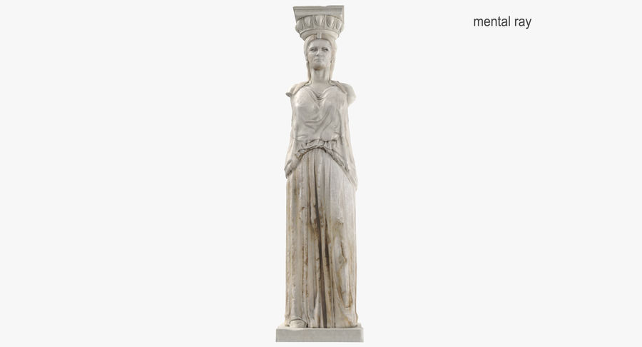 Caryatid royalty-free 3d model - Preview no. 12