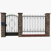 砖围墙 3d model
