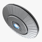 Ufo Classic Flying Saucer Rigged 3D Model 3d model
