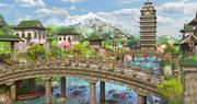 Fantasy Asian Environment 3d model