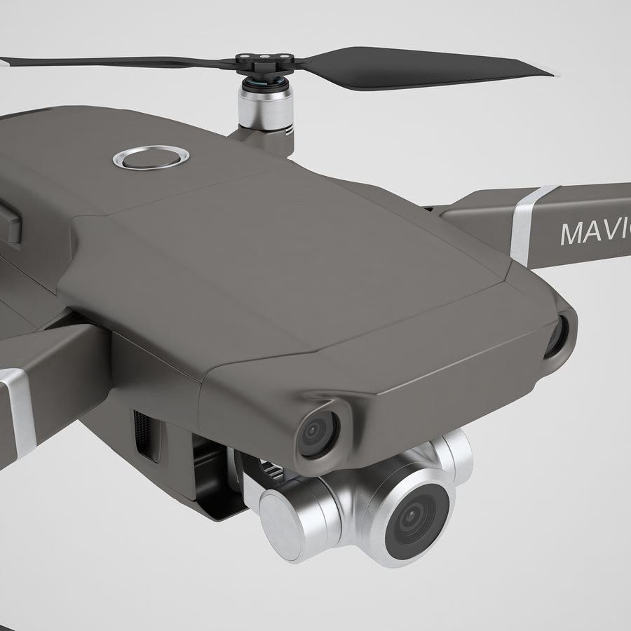 DJI Mavic 2 Zoom Brown royalty-free 3d model - Preview no. 25