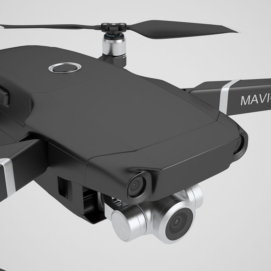 DJI Mavic 2 Zoom Black royalty-free 3d model - Preview no. 25