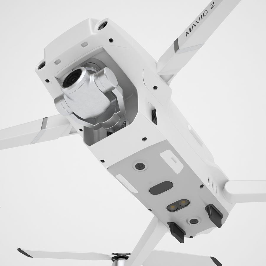 DJI Mavic 2 Zoom White royalty-free 3d model - Preview no. 17
