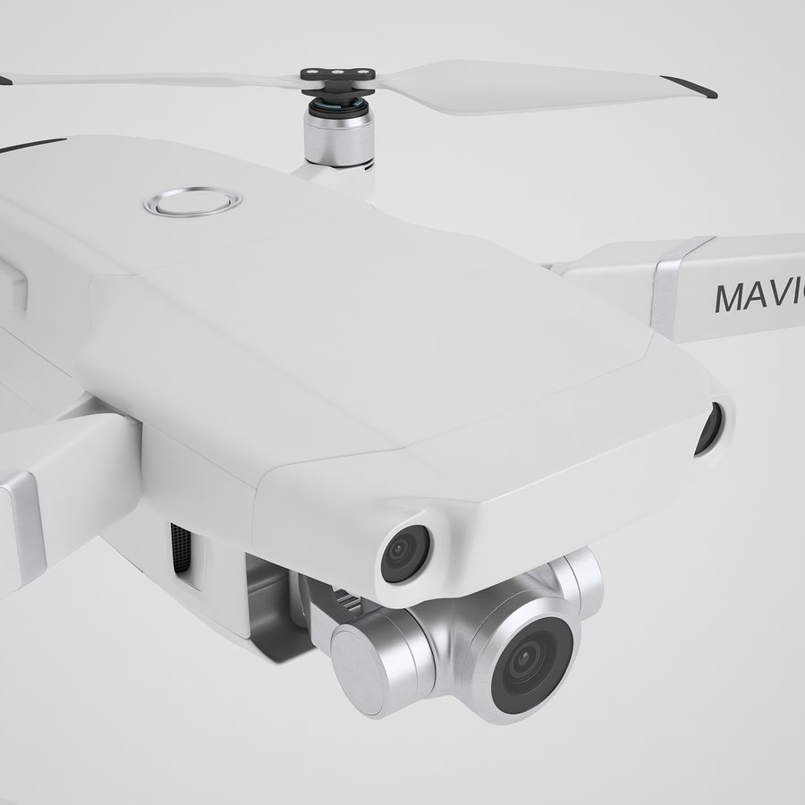 DJI Mavic 2 Zoom White royalty-free 3d model - Preview no. 25
