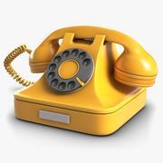 Teléfono retro 5 modelo 3d