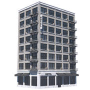 NYC Building - Hotel 3d model