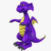 Cartoon kleiner Drache (1) 3d model