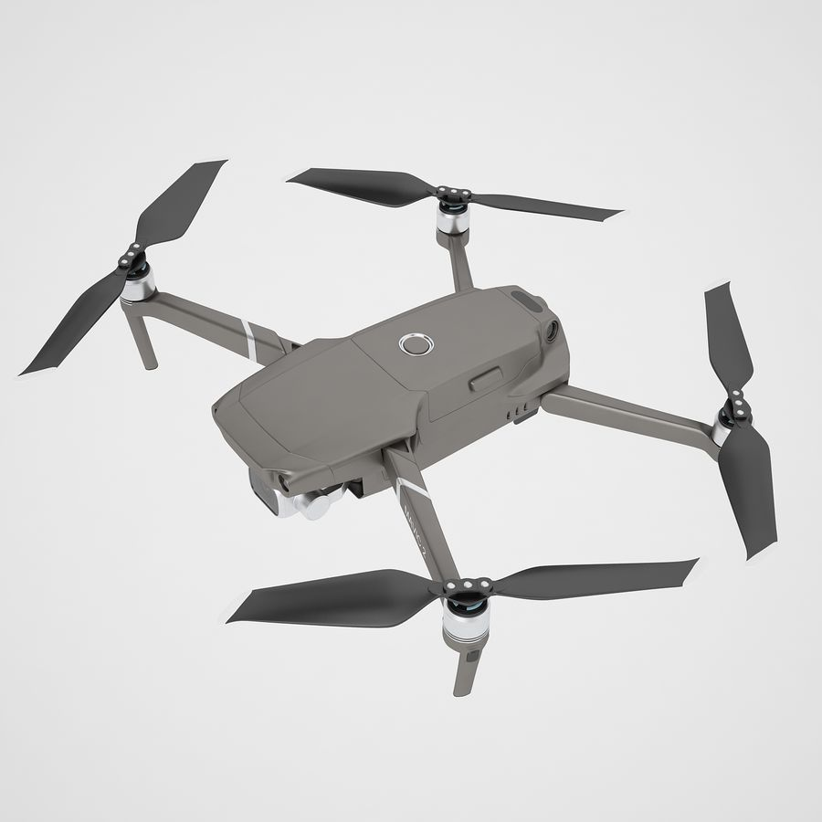 DJI Mavic 2 Pro Brown royalty-free 3d model - Preview no. 9