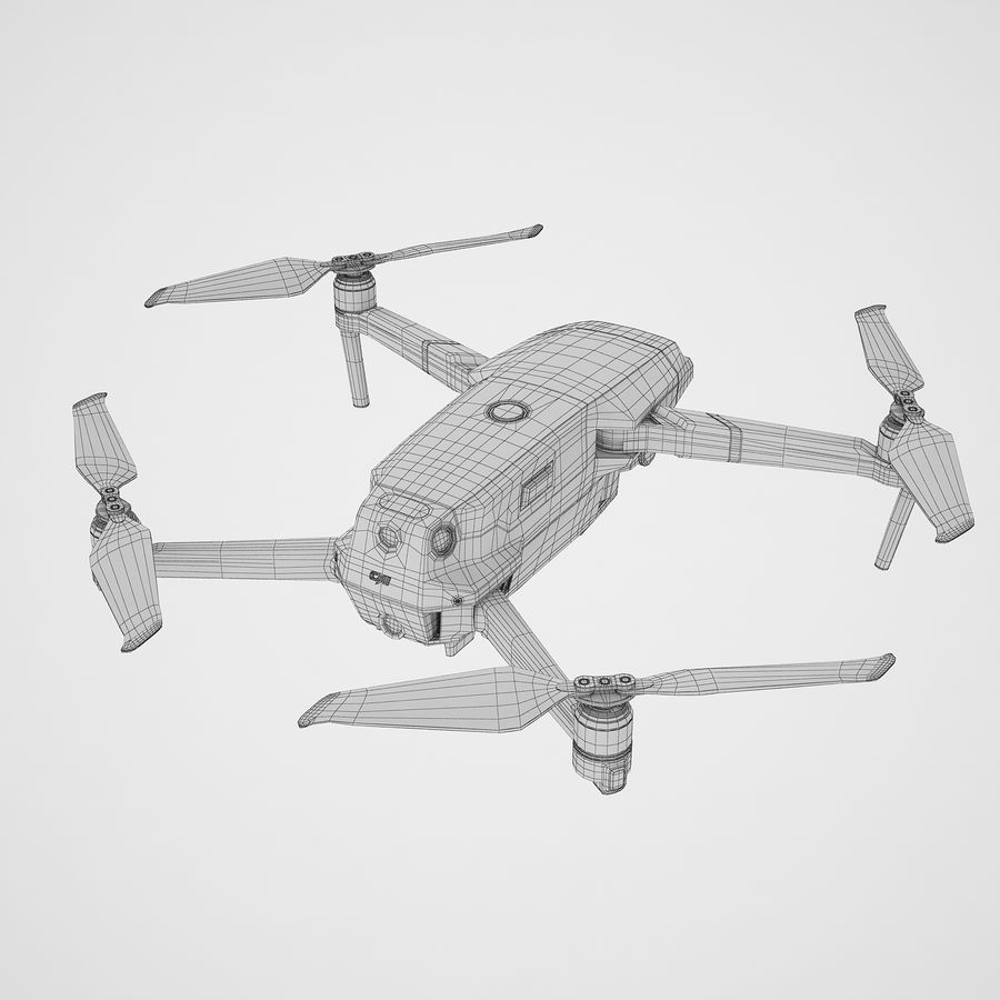 DJI Mavic 2 Pro Brown royalty-free 3d model - Preview no. 14