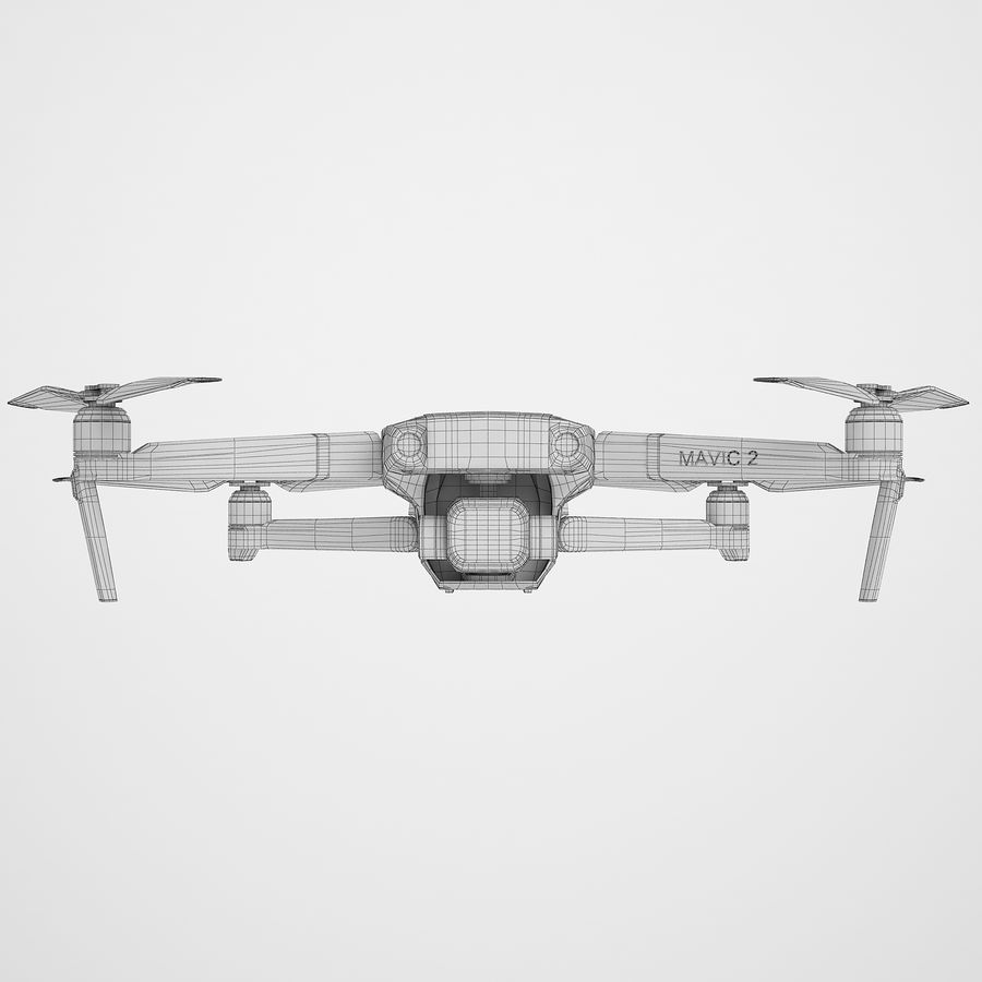 DJI Mavic 2 Pro Brown royalty-free 3d model - Preview no. 6