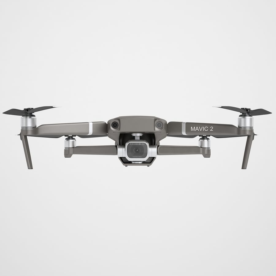 DJI Mavic 2 Pro Brown royalty-free 3d model - Preview no. 5