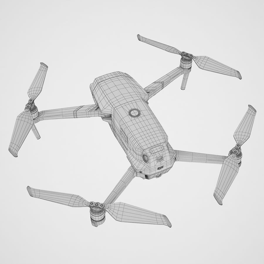 DJI Mavic 2 Pro Brown royalty-free 3d model - Preview no. 12