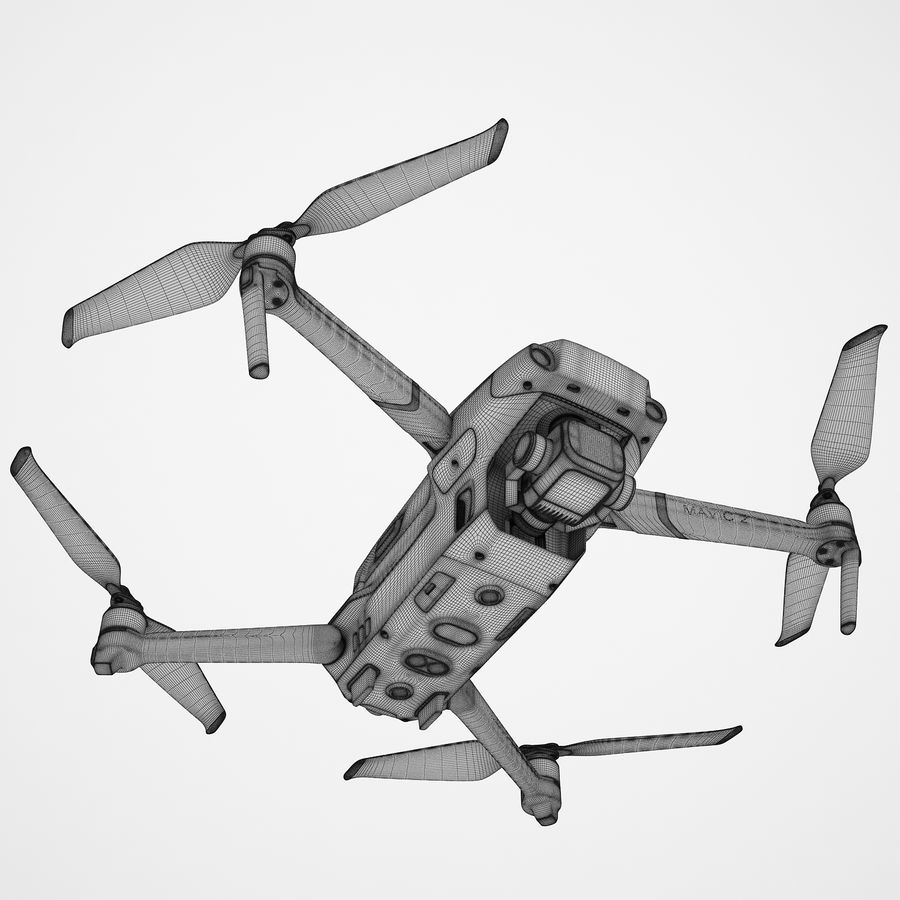 DJI Mavic 2 Pro Brown royalty-free 3d model - Preview no. 3
