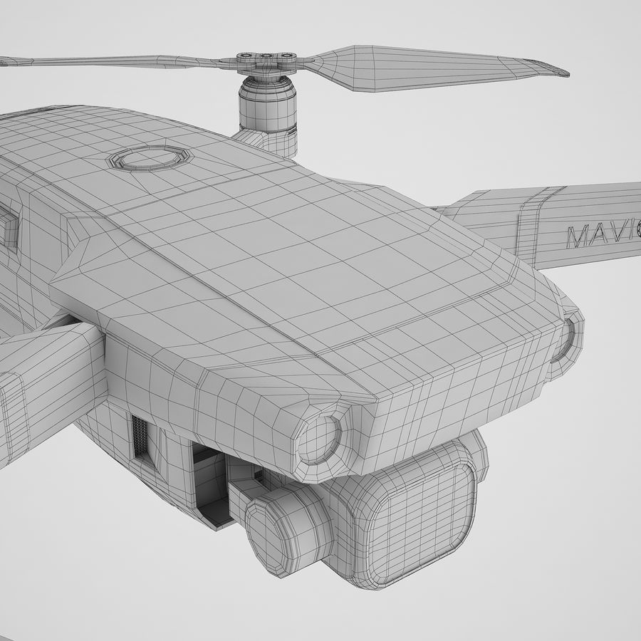 DJI Mavic 2 Pro Brown royalty-free 3d model - Preview no. 26