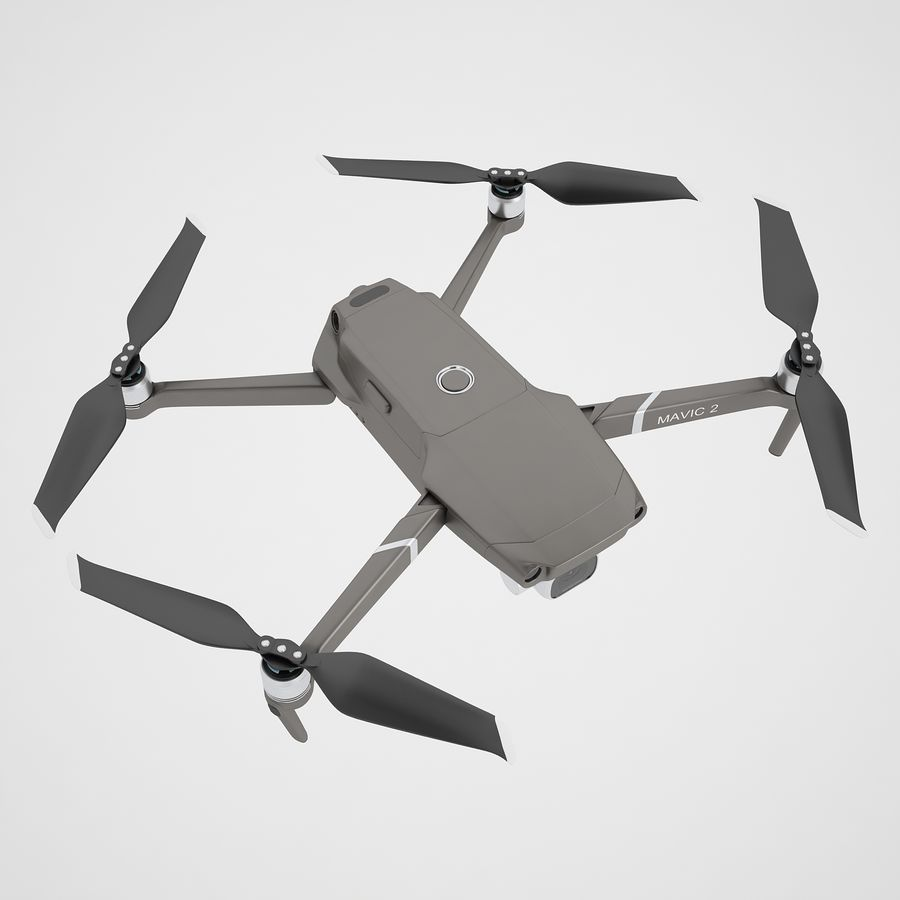 DJI Mavic 2 Pro Brown royalty-free 3d model - Preview no. 7