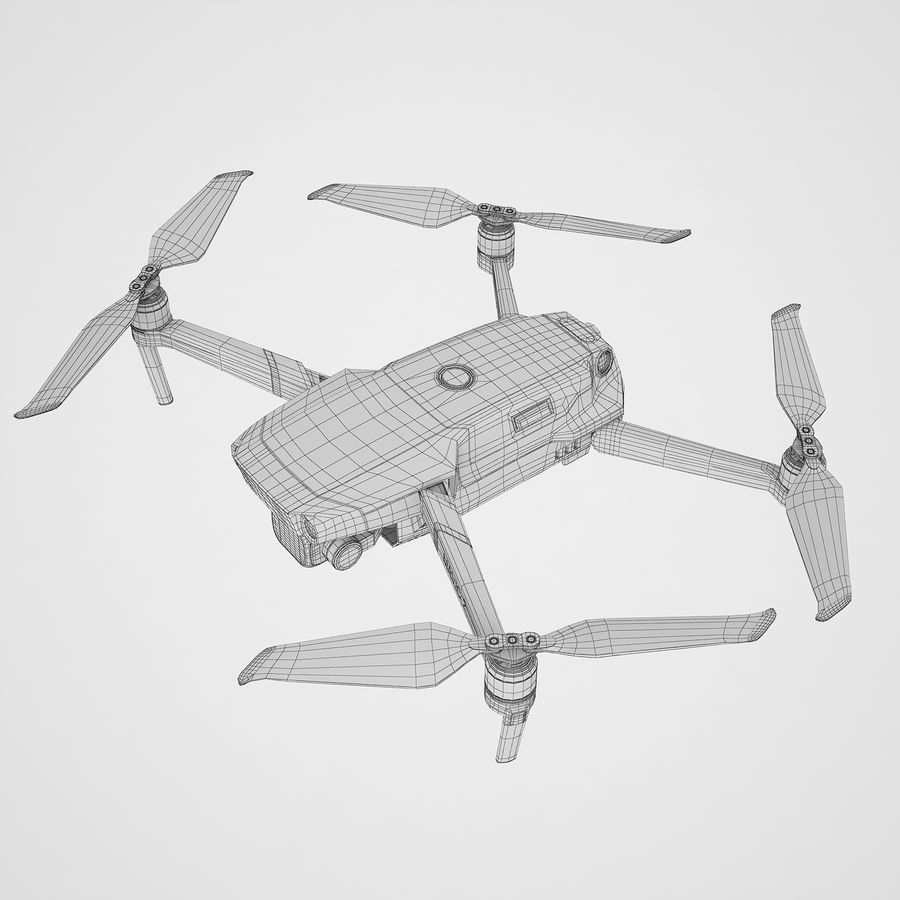 DJI Mavic 2 Pro Brown royalty-free 3d model - Preview no. 10