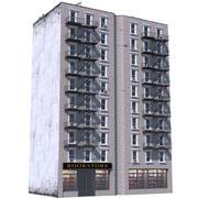 Budynek Nowego Jorku 9 3d model