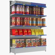 Schappen voor supermarkten 01 3d model