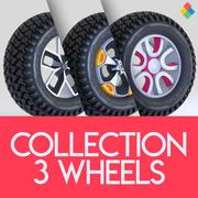 Wheel Tire Rim Design Collection 1 3d model