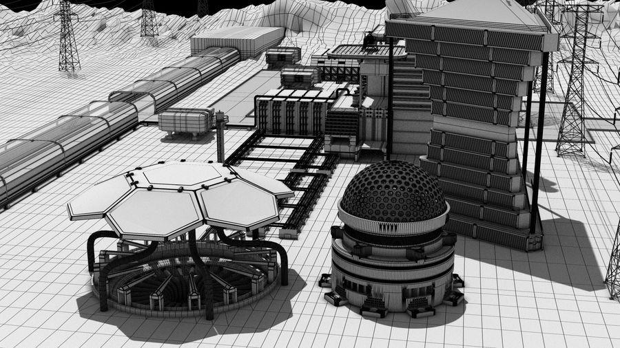 Futuristische exoplanetarische Einrichtung royalty-free 3d model - Preview no. 35