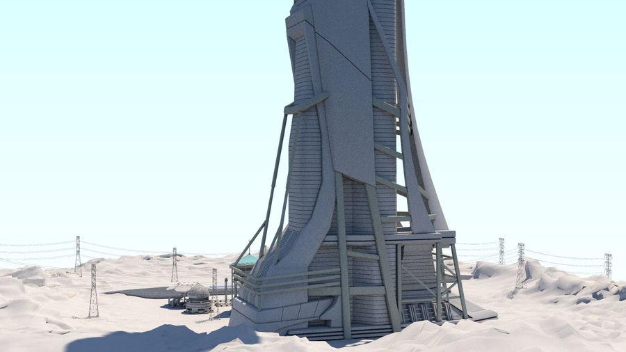 Futuristische exoplanetarische Einrichtung royalty-free 3d model - Preview no. 40