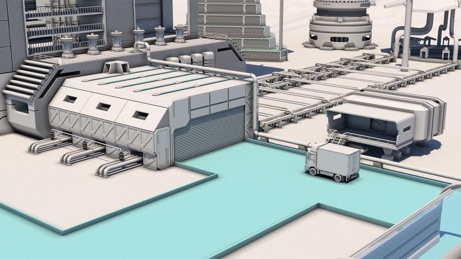 Futuristische exoplanetarische Einrichtung royalty-free 3d model - Preview no. 6