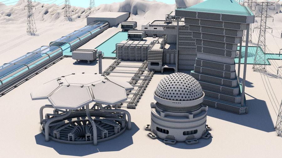 Futuristische exoplanetarische Einrichtung royalty-free 3d model - Preview no. 34