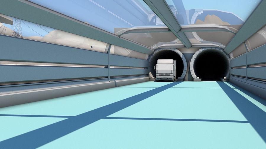 Futuristische exoplanetarische Einrichtung royalty-free 3d model - Preview no. 10