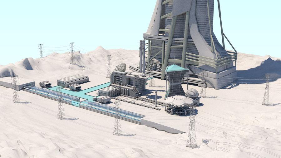 Futuristische exoplanetarische Einrichtung royalty-free 3d model - Preview no. 32