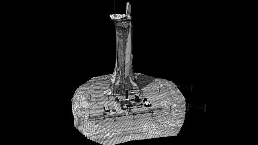 Futuristische exoplanetarische Einrichtung royalty-free 3d model - Preview no. 27