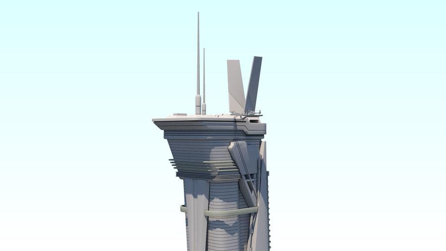 Futuristische exoplanetarische Einrichtung royalty-free 3d model - Preview no. 30