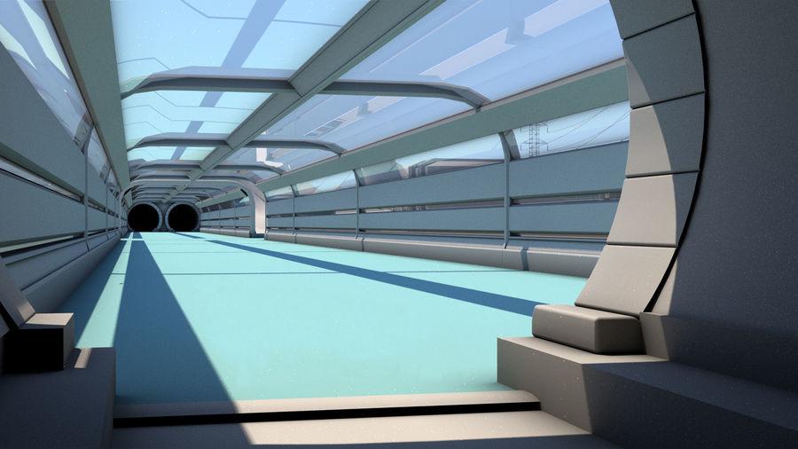 Futuristische exoplanetarische Einrichtung royalty-free 3d model - Preview no. 12