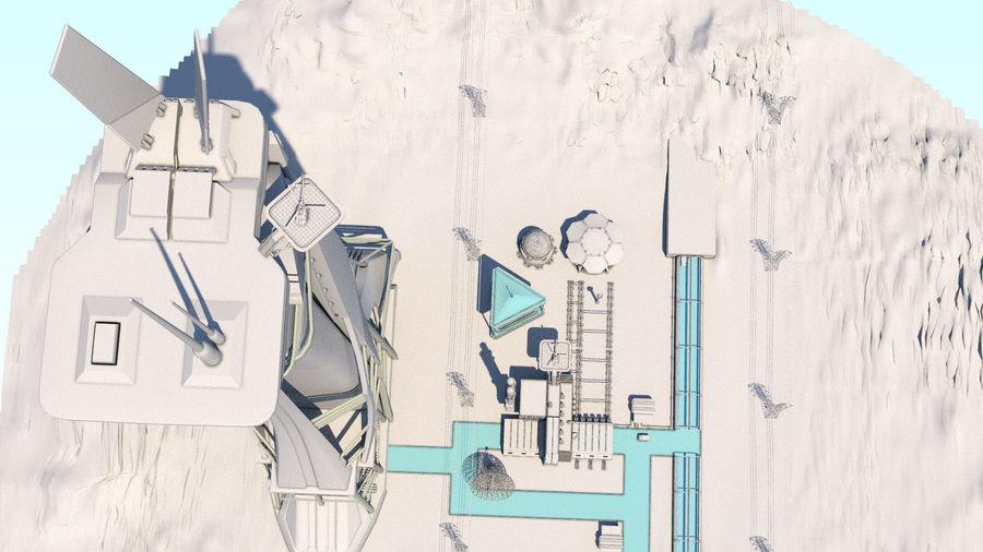 Futuristische exoplanetarische Einrichtung royalty-free 3d model - Preview no. 28