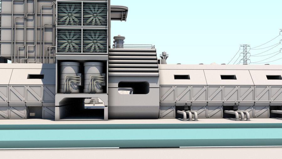 Futuristische exoplanetarische Einrichtung royalty-free 3d model - Preview no. 18