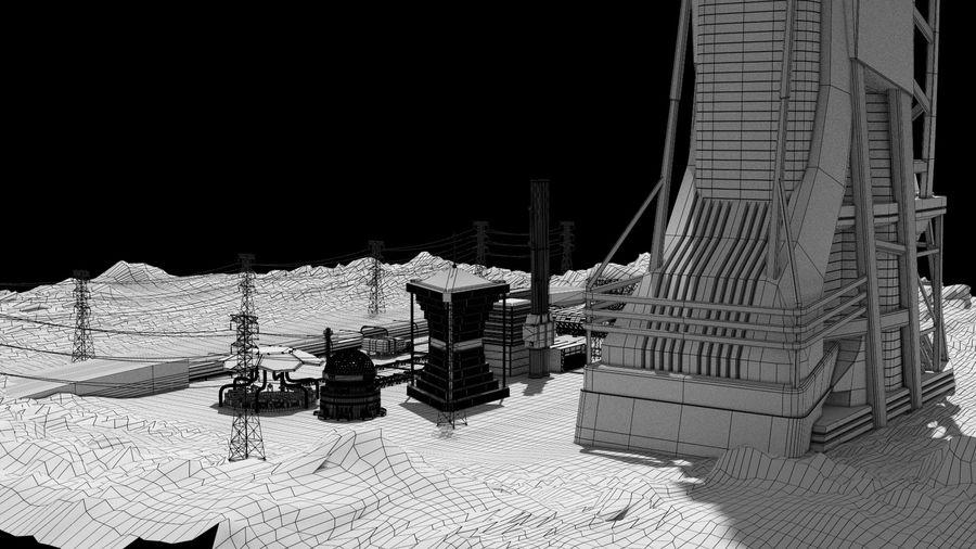 Futuristische exoplanetarische Einrichtung royalty-free 3d model - Preview no. 37