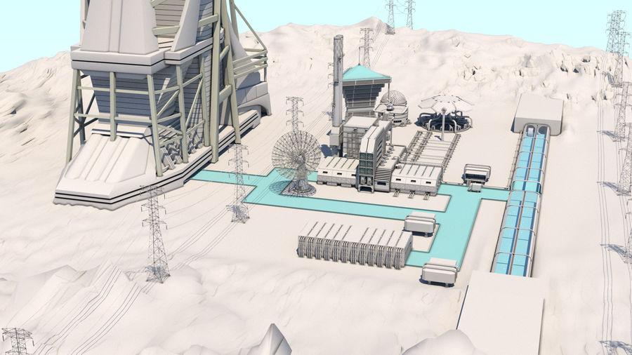 Futuristische exoplanetarische Einrichtung royalty-free 3d model - Preview no. 2