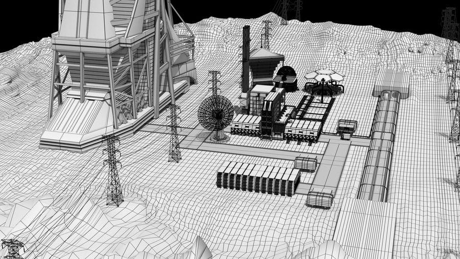 Futuristische exoplanetarische Einrichtung royalty-free 3d model - Preview no. 3