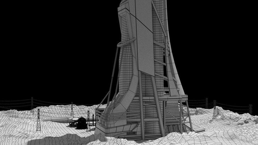 Futuristische exoplanetarische Einrichtung royalty-free 3d model - Preview no. 41