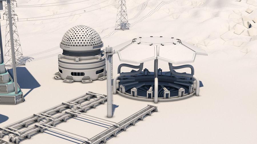 Futuristische exoplanetarische Einrichtung royalty-free 3d model - Preview no. 8