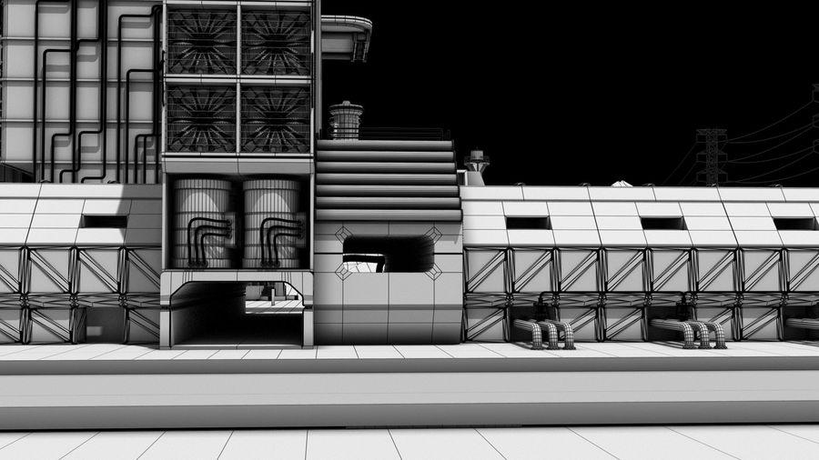 Futuristische exoplanetarische Einrichtung royalty-free 3d model - Preview no. 19