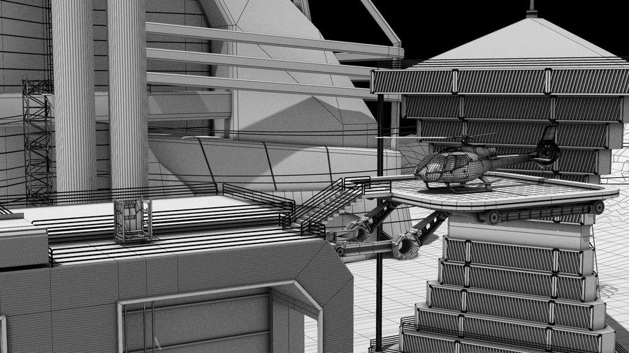 Futuristische exoplanetarische Einrichtung royalty-free 3d model - Preview no. 25