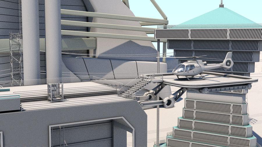 Futuristische exoplanetarische Einrichtung royalty-free 3d model - Preview no. 24