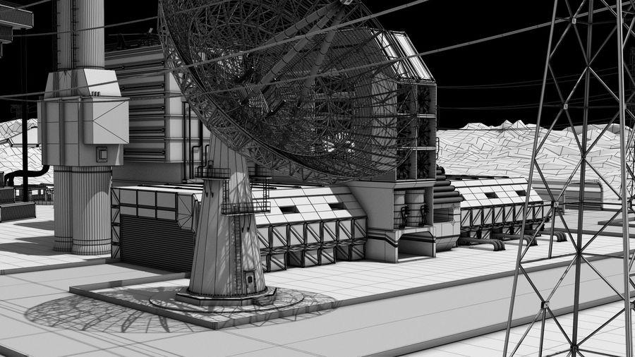 Futuristische exoplanetarische Einrichtung royalty-free 3d model - Preview no. 21