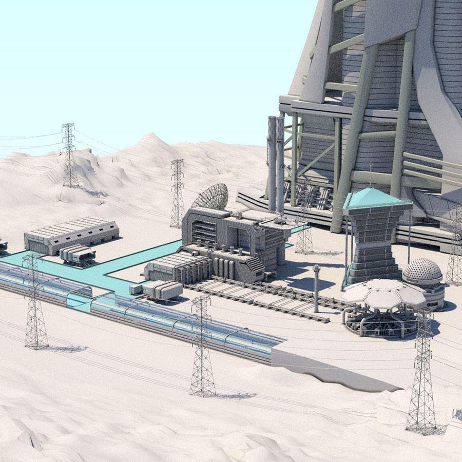 Futuristische exoplanetarische Einrichtung royalty-free 3d model - Preview no. 1